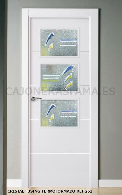 Puerta lacada en blanco pantografic 02 Precio puertas de paso