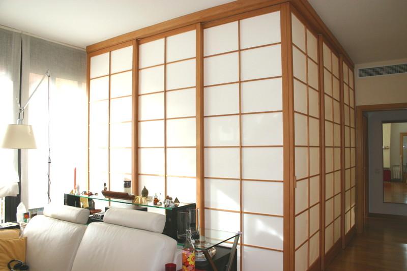 Paneles y puertas japonesas estilo shoji - Como hacer puertas de armario ...