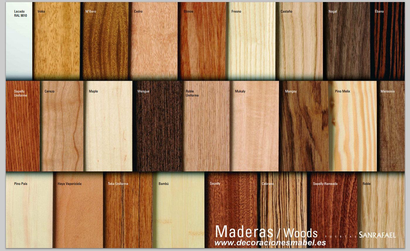 Puerta barnizada en madera serie curva 72tm for Colores para puertas