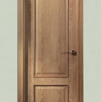 Puerta barnizada en madera Serie Curva 72TM