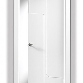 Puerta lacada en blanco San Rafael 902