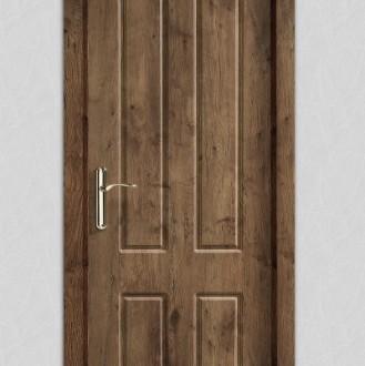 Puerta laminada en PVC Serie Classic 04 en Roble Rústico