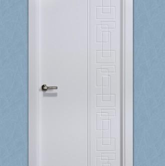 Puerta lacada en blanco Pantografic 18