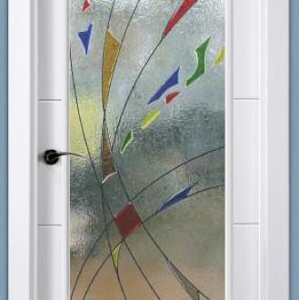 Cristal decorado con Fusing Perfilado Ref 908