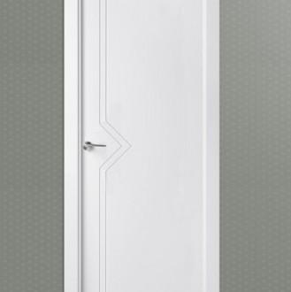 Puerta de interior lacada en blanco Pantografic L-2100