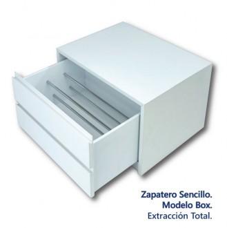 Zapatero sencillo 1 cajón de 32 guía extracción total