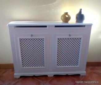 Cubreradiador Modelo Celosia Lacado en blanco
