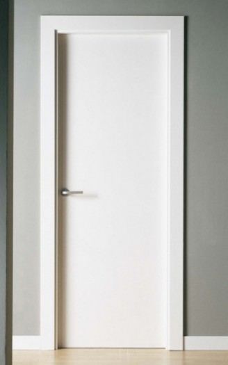Puerta lacada en blanco Lisa Pc-50