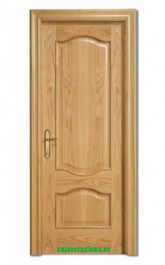 Puerta barnizada en madera Doble Provenzal Invertida