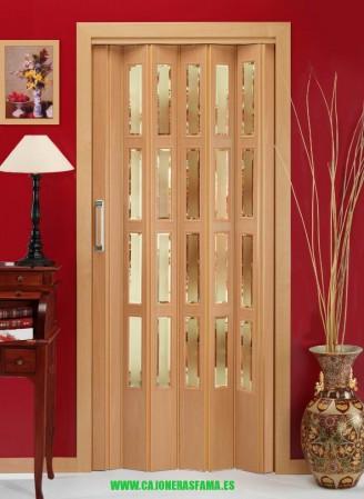 Puerta plegable serie melamina modelo Florencia