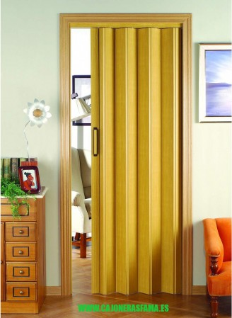 Puerta plegable serie vinilo modelo Berna