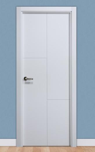Puerta laminada en PVC Serie Pantografic 25 en Blanco Seda
