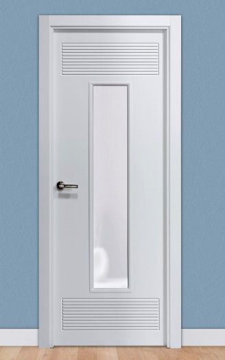 Puerta laminada en PVC Serie Pantografic 19 1v en Blanco Seda