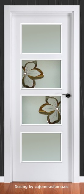 Cristales para puertas de interior for Vidrios decorados para puertas interiores