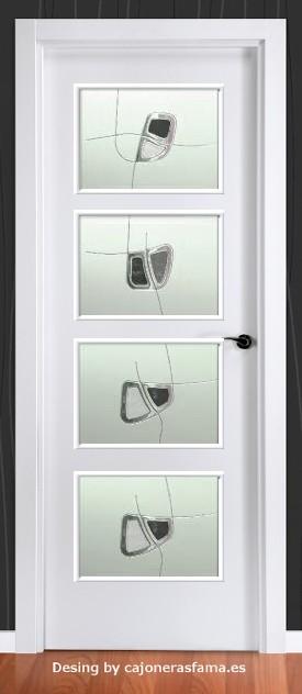 Cristales decorados con resina ref 1202 - Cristales decorados para puertas ...
