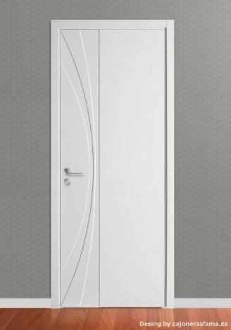 Puerta lacada en blanco Fantastic 07 - Ciega