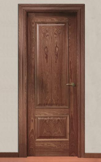 Puerta barnizada en madera |  Recta 32TM