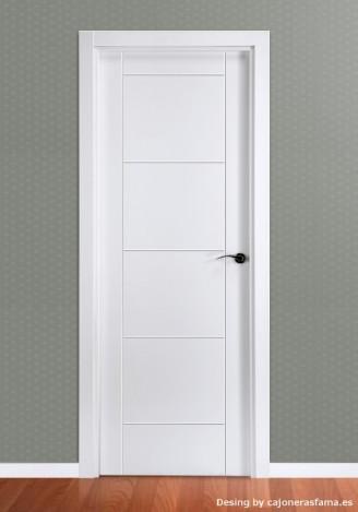 Puerta ciega lacada en blanco modelo Mara