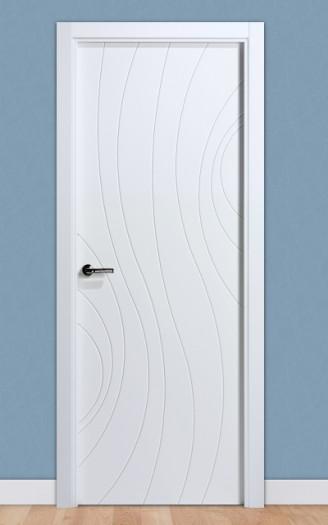 Puerta laminada en PVC Serie Fantastic 11 en Blanco Seda