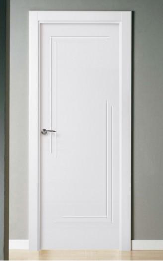 Puerta lacada en blanco Pantografic 52 ciega