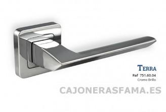 Roseta de diseño cromo brillo modelo TERRA