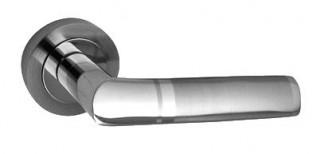 Roseta Combinada Niquel mate y cromo brillo. Fabricada en aluminio.