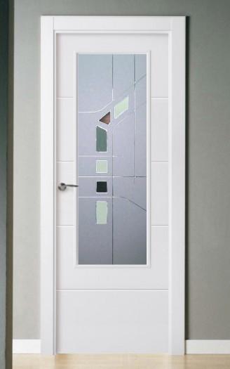 Puerta lacada en blanco Pantografic 02 1v
