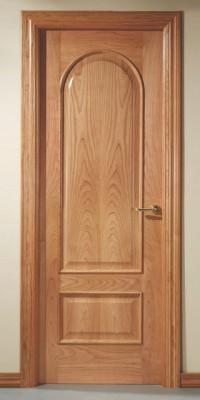 Puerta barnizada en madera Serie Medio Punto 62TM