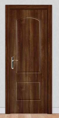 Puerta laminada en PVC Serie Classic 02 Nogal Oscuro