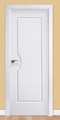 Puerta laminada en PVC Serie Classic 05 en Blanco seda