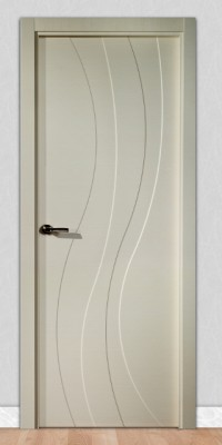 Puerta laminada en PVC Serie Fantastic 06 en Crema Raya