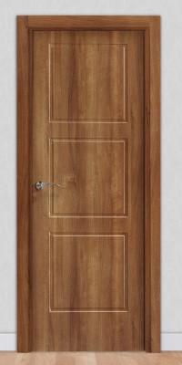 Puerta laminada en PVC Serie Pantografic 06 en Nogal Claro