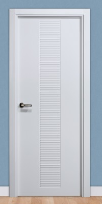 Puerta laminada en PVC Serie Pantografic 20 en Blanco Seda