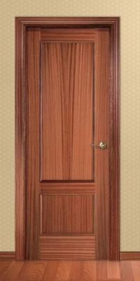 Puerta Barnizada en madera Serie Recta 32