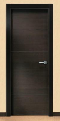 Puerta Moderna Barnizada Serie MML4 Wengué