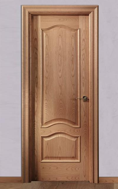Puerta barnizada en madera doble provenzal tm for Estilos de puertas de madera