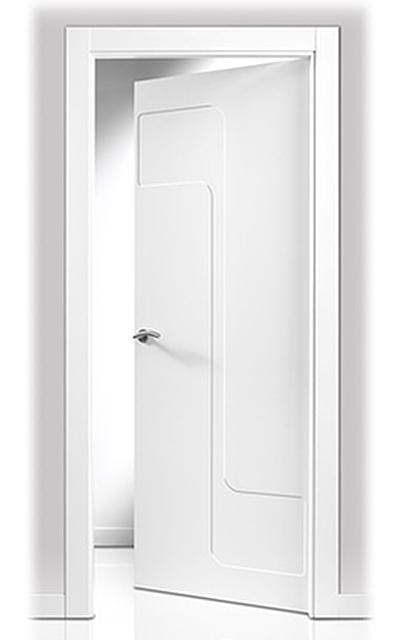 Puerta lacada en blanco sanrafael 902 - Puertas lacadas san rafael ...