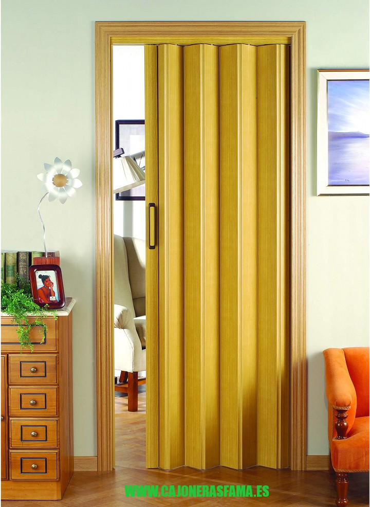 Puerta plegable serie vinilo modelo berna - Puertas de madera plegables ...