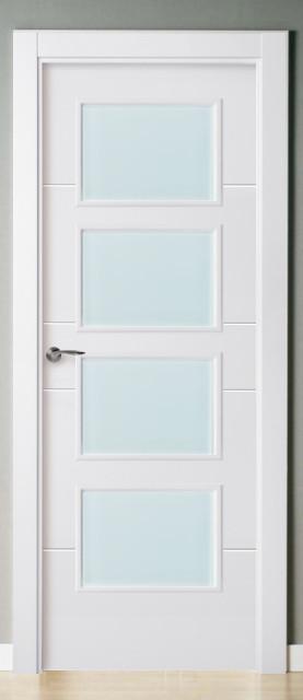 Cristal blanco mate sin motivo - Puertas de interior con cristales ...