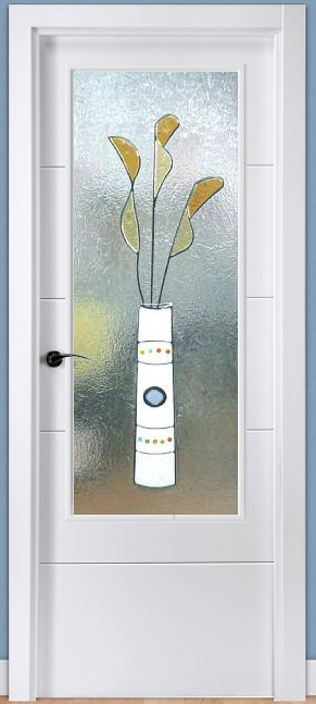 Cristal decorado con fusing perfilado ref 909 - Cubreradiadores de cristal ...