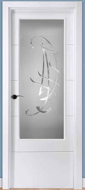 Cristal decorado con resina transparente 1262 - Cristales de puertas ...