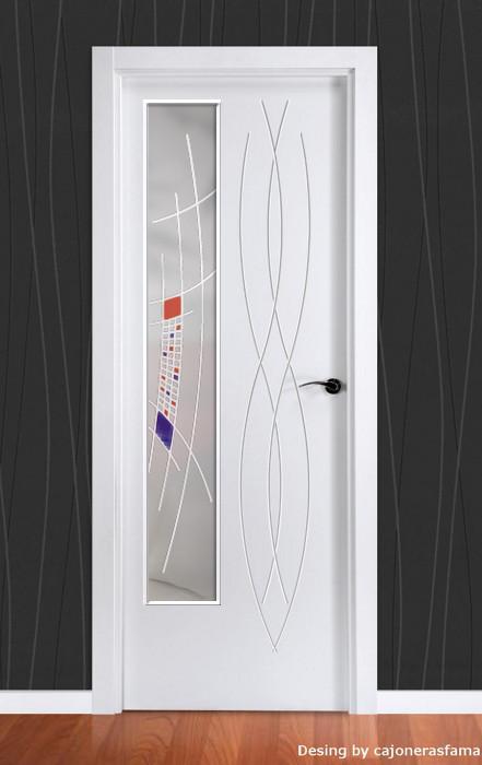 Puerta lacada en blanco fantastic 03 - Puerta lacada en blanco ...