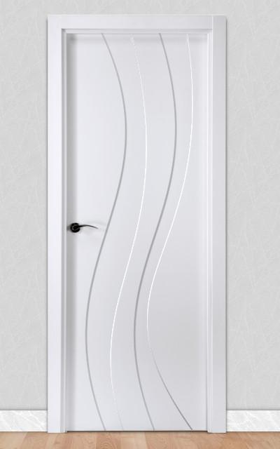 Puerta lacada en blanco fantastic 06 for Puertas modernas interior precios