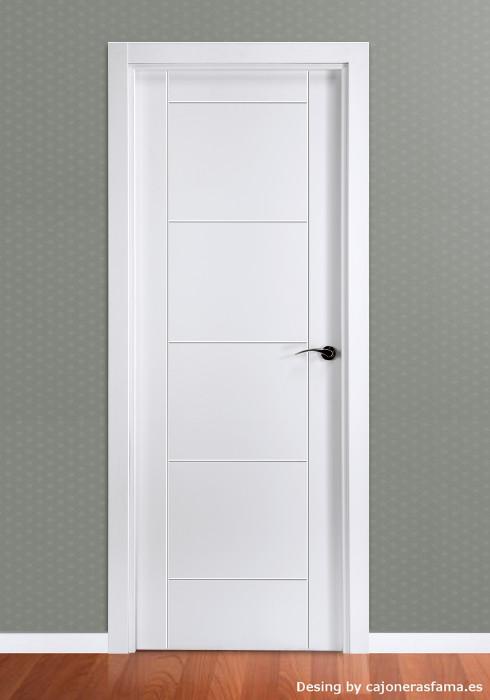 Puerta lacada en blanco modelo mara - Puertas lacadas en blanco ...