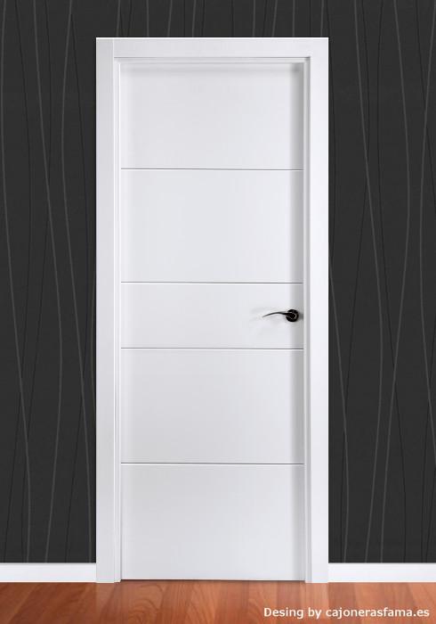 Puerta lacada en blanco pantografic 03 - Puerta lacada en blanco ...