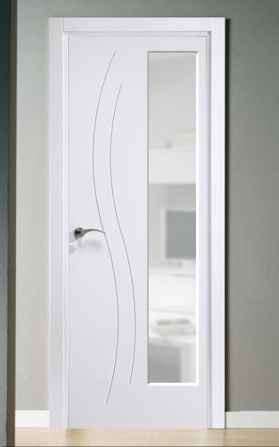Puerta lacada en blanco fantastic 01 - Puerta lacada en blanco ...