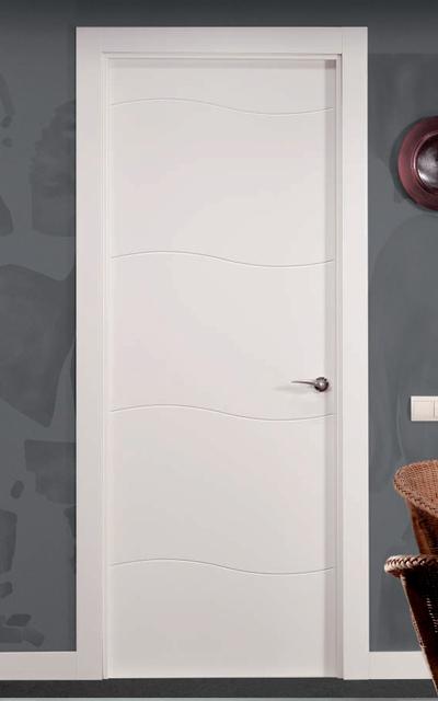 Puerta lacada en blanco fantastic 04 - Puertas lisas blancas ...